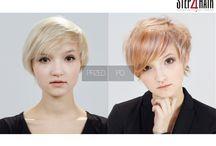 Holograficzny blond / Od bardzo jasnego blondu przechodzimy w melanż kolorystyczny. Gra światłami i rozproszenie różnych odcieni blond nie tylko podkreśli asymetrię, ale także stworzy lekką i przestrzenną formę fryzury.    Kategoria: Koloryzacja Technika: Koloryzacja panelowa z trzema odcieniami blondu Edukator: Paweł Nabrdalik