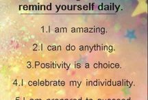 Positive Motivation / Positive and motivational messages to uplift you when you need it or daily :)