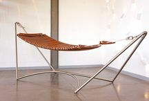 Seora Alpine / Award winning lounger in Mahogany and stainless steel.