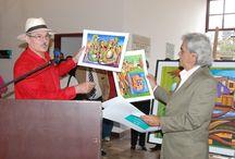 Inauguran exposición Musigallos en Quito del pintor Saavedra / La exposición pictórica Musigallos en Quito, del conocido artista cubano Luis Alberto Saavedra, quedó inaugurada hoy en la Casa de la Cultura Ecuatoriana (CCE) en vísperas de su 69 aniversario, ante numeroso público y personalidades.