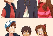 Over the Gravity Falls... / ...And other related xovers.