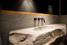 Chalet / Inspiration for using natural stone in a chalet setting.