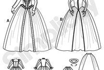 Elisabethan gown