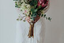 Bukiet ślubny -protea