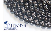 Black Agate, round, faceted / Our Black Agate - Gemmopoli.com