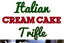 Italian cream cheese triful