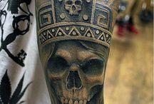 Bearded skull tatoo