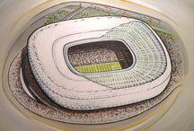 Stadia of Europe in Art / Stunning art of European Stadia available as great gifts @ www.sportsstadiaart.com
