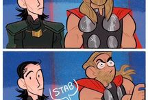 Thor and Loki doing tings