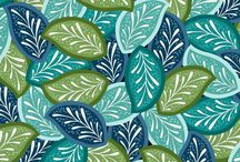 New Fabric: Blank & Marcus / A delightful combination of watery foliage. Two separate collections coalescent in a realm of greens and blues that makes you wish there were just a few more summer days by the lake left.