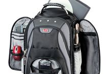 Backpack for laptop and umbrella and water bottle