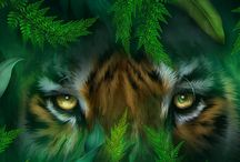 Big Cat Art / With cats we learn to see the extraordinary. A collection of big cat art from the Spirit Of The Wild series by Carol Cavalaris.