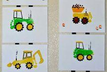 Boys Toys Hand/Footprint / Cars and trucks!