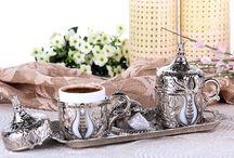 Osmanlı Büyük Lale Motifli 2' Kişilik Kahve Seti - Gümüş Beyaz / Osmanlı Büyük Lale Motifli 2' Kişilik Kahve Seti - Gümüş Beyaz SADECE : 39.90 TL KDV DAHİL