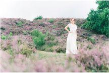 Heathlands pastel coloured bridal shoot