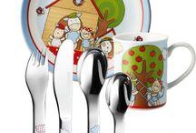 vajilla infantil porcelana personalizada nombre con cubiertos