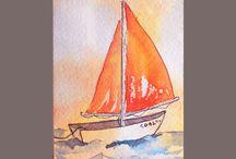 akvarellilaivat
