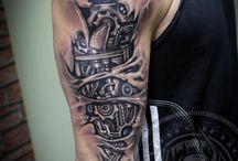 tatouages biomécanique bras