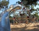 Lyell Iffla Reserve, City of Port Phillip / The massive 4.5m high custom-designed Berliner-Seilfabrik Jupiter Climbing Structure was commissioned by the City of Port Phillip for Ilell Iffla Reserve. Designed and installed by the Victorian Playrope team.