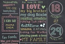 Chalkboard Poster Ideas / Signs, DIY, Art, Wall, Ideas, Font, Weddings, Quotes, first birthdays, kids, birthday, design