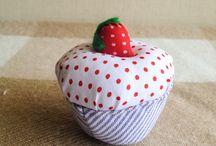 pincushion / cupcake pincushion