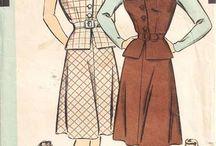 Dikiş Kalıpları - Vintage / Elbise, bluz, etek modelleri ve kalıpları