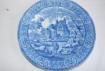 Pre-1850 transfer printed pottery