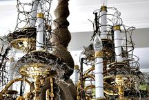 chandeliers / by Linda Booth