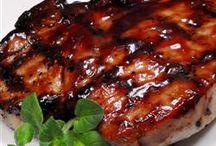 Meat,  pork, chicken, ham,fish