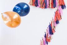 Party ideas: birthday / Age birthday backdrop.