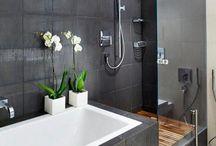 baños en negro