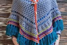 Poncho med knepping