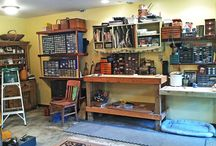 In their element: ceramic studios, potters, and other artists / Artists in their studios (or sometimes just the studio)
