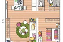 Tiny apartment layouts