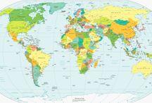 Карта мира политическая