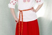 Traditional Russian Women's Fashionable clothes / This is pictures of russian style in clothes. it's based on traditional russian dress and Orthodox religion.