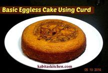 Eggless Cake using curd