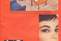Foreign vintage funiture ads / Vintage furniture ads