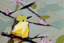 Vogeltjes schilderen.