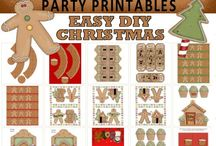 Christmas Party Printables - Gingerbread Theme