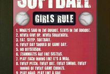 Softball / My favorite sport to play