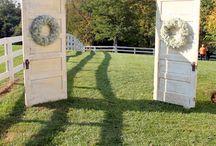 Garden wedding doors