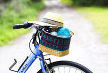 Bolga Bicycle Baskets / New Bicycle baskets. Great for your bike trips to hold water bottles, camera, phone and many other items.  Would look nice on a wall too, with silk flowers.