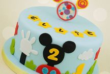 two years cake mickey mouse