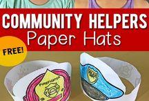 comunity helpers hats