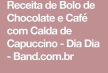 bolo de chocolate / café