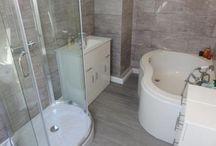 Dream Rooms - Bathroom / Ideas for bathroom decor. Tiles, flooring, baths and showers.