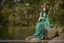 Sweet Pear Celadon Green Pure Satin Georgette Saree / PRICE: INR 6,981.00; US$ 105.77 To buy click here: https://goo.gl/dfp2Jp Featuring the Sweet Pear green, pure satin georgette saree with darling white pear flower wreath embroidered at the back of the blouse. Tiny white florets are embroidered all over the blouse and the saree is accented with a thin mustard edging for a vintage-inspired effect. The satiny drape is delicious and comes with a luxe shimmer that you cannot go wrong with. Reach us at care@eastandgrace.com. www.eastandgrace.com