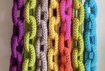 correntes/argolas de croché