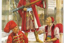 The Ottoman Empire / A collection of images depicting soldiers of the Ottoman empire
